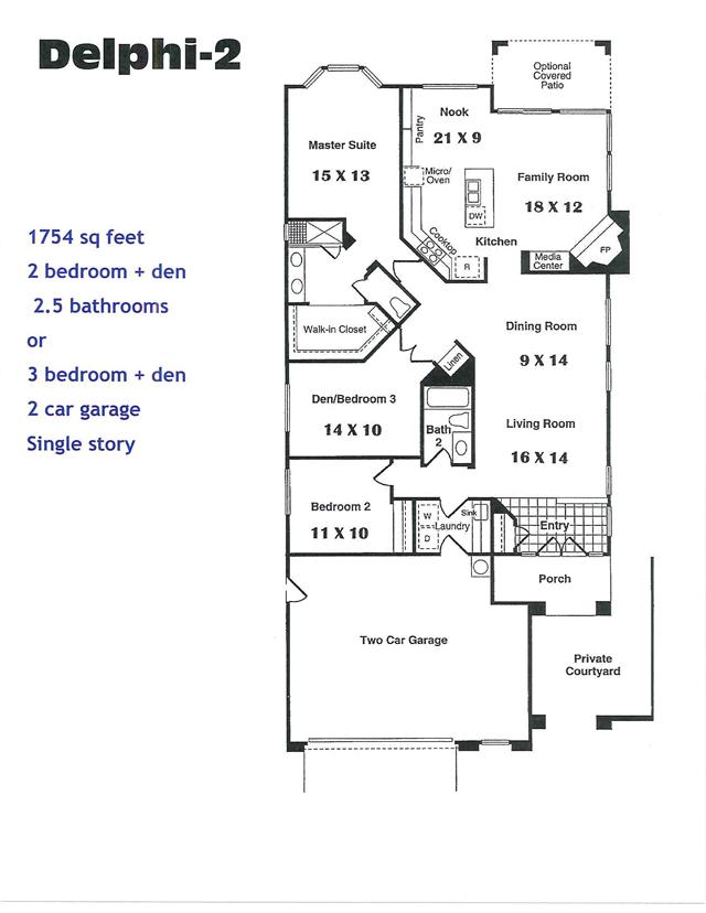 Delphi 2 Model and Floor Plan
